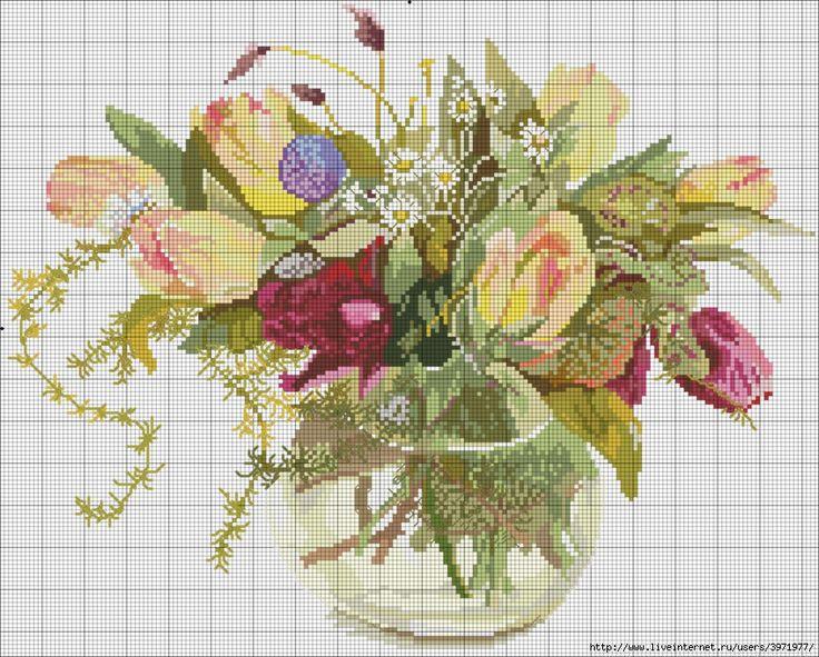 flores in vase
