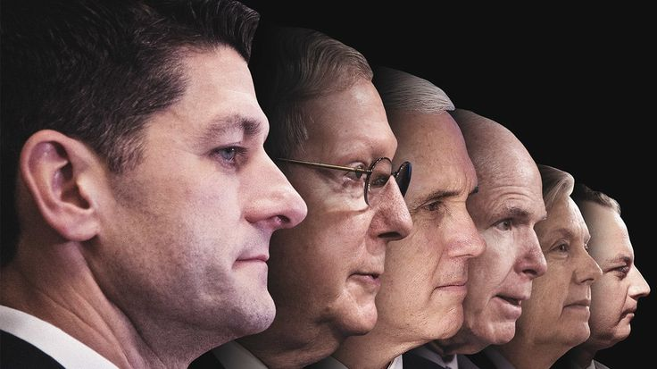 From Paul Ryan to John McCain, Sarah Ellison takes a look at the men—and the motives—that are propping up a Donald Trump presidency.