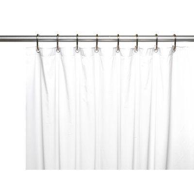 """Symple Stuff 10 Gauge Mildew Resistant Vinyl Shower Curtain Liner Color: Super Clear, Size: 72"""" W x 84"""" D"""