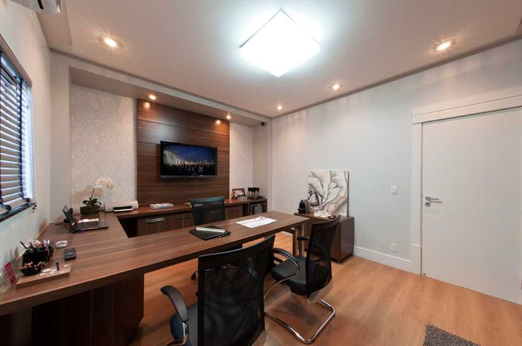 Desk Office Design with wooden tile for small office space ideas within office space design