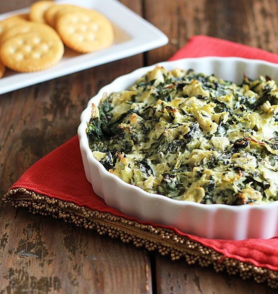 Cheesy Spinach and Artichoke Dip - 20 Delicious Appetizer and Dip Recipes