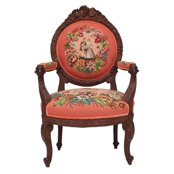 19th Century Hand-Carved French Needlepoint Aubusson Chair with Musical  Accents - 116 Best Needlepoint Antique Images On Pinterest Embroidery