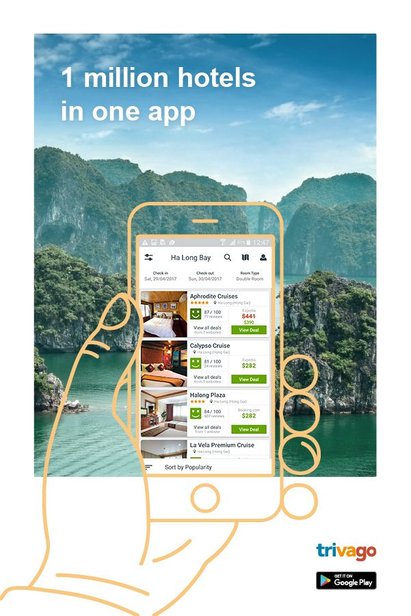 Download trivago app to find perfect hotels at low prices. Compare over a million hotels worldwide, from more than 200 booking websites and save money on your vacations!