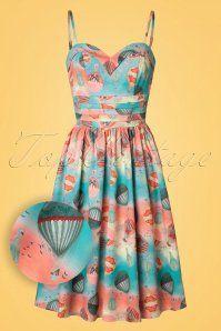 Vixen Aria Blue Balloon Dress 102 39 20445 20170308 0002W!