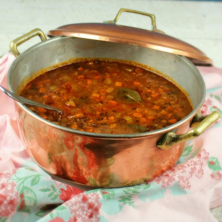French Tomato Lentil Soup by palatablepastimes #Soup #French_Lentil #Tomato