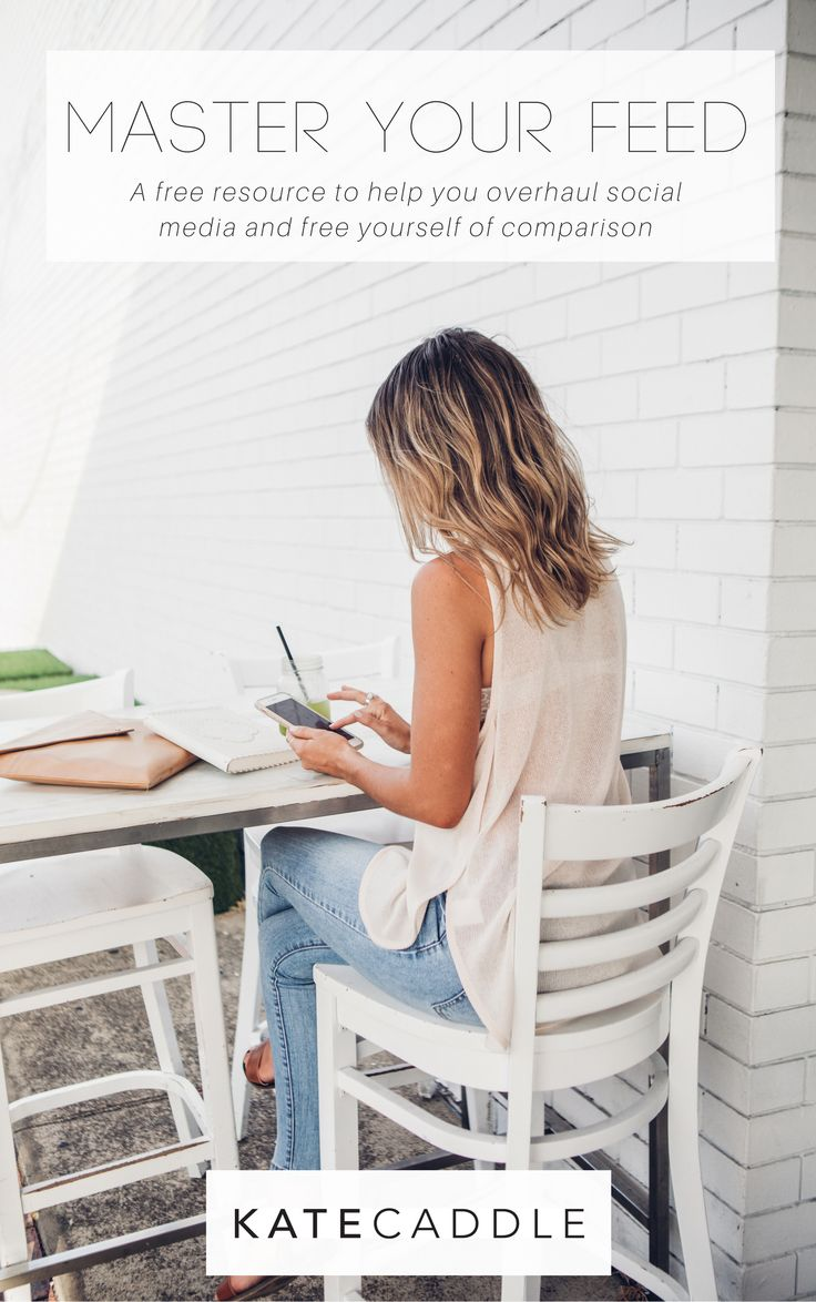 A free resource to help you overhaul your social media and free yourself of comparison | | social media comparison | self love tips | mindful living tips
