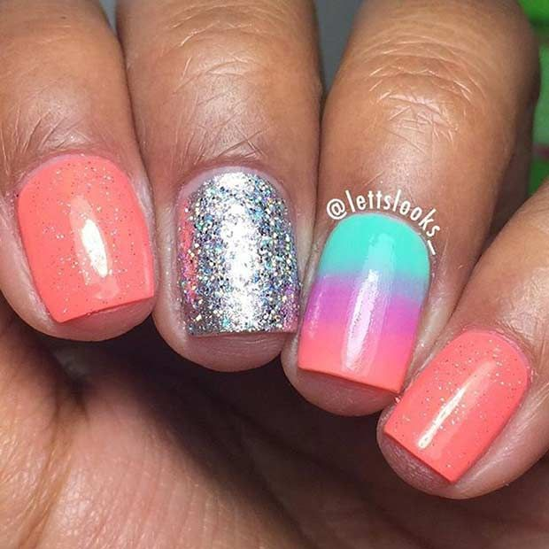 Summer Nail Design for Short Nails