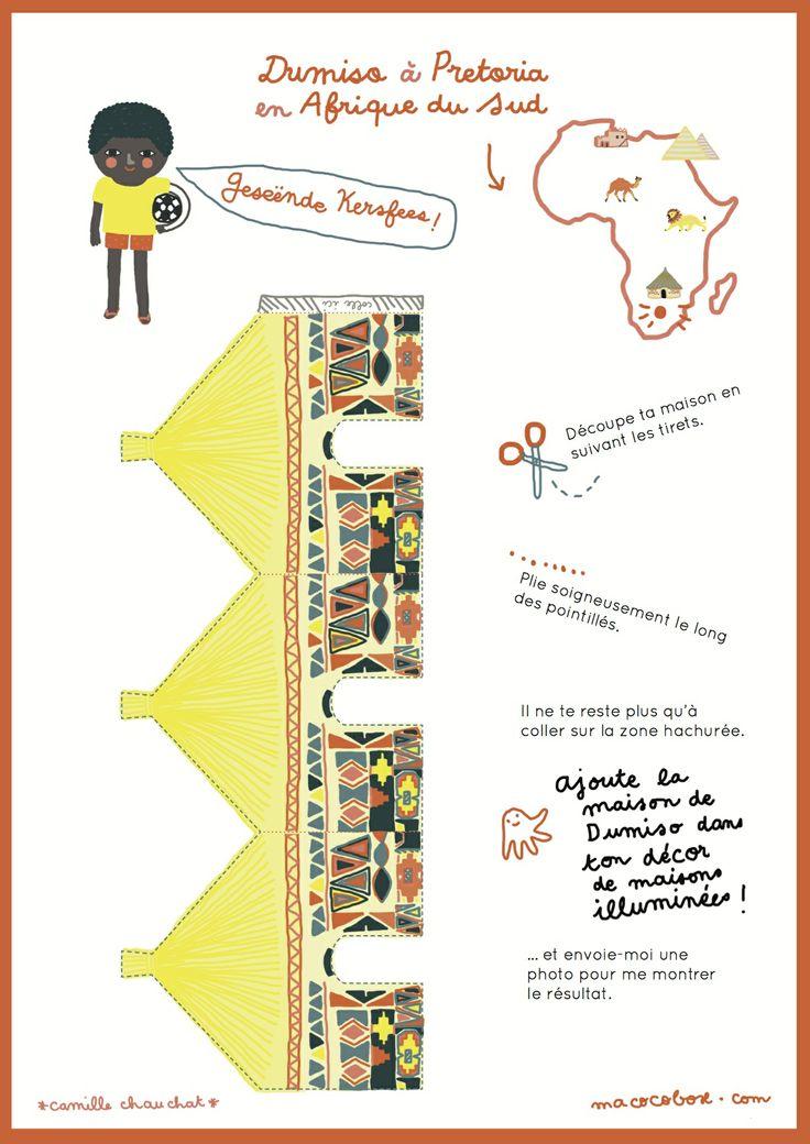 ☆ 11 DECEMBRE – NOEL DANS LE MONDE ☆ Une maison africaine à rajouter à ton activité « Allume le monde »   http://www.macocobox.com/blog/calendrier-de-lavent-11-decembre-2013/