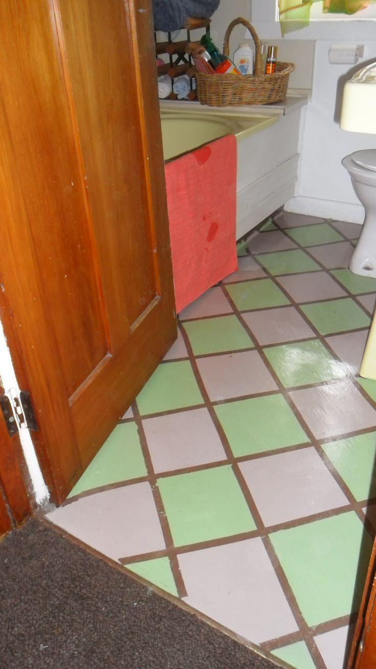 2014, my painted bathroom floor