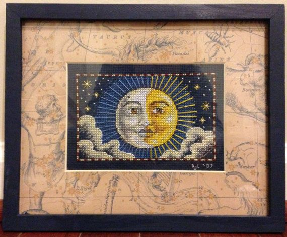 Completed Cross Stitch in Frame Celestial Dream by dannileifer, $24.99