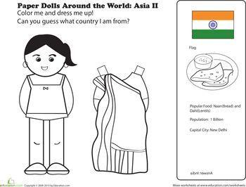 Indian paper doll | preschool activities | pinterest | preschool.
