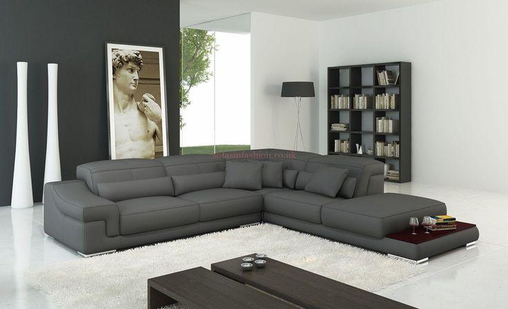 Best 25 grey leather sofa ideas on pinterest - Sofas en esquina ...