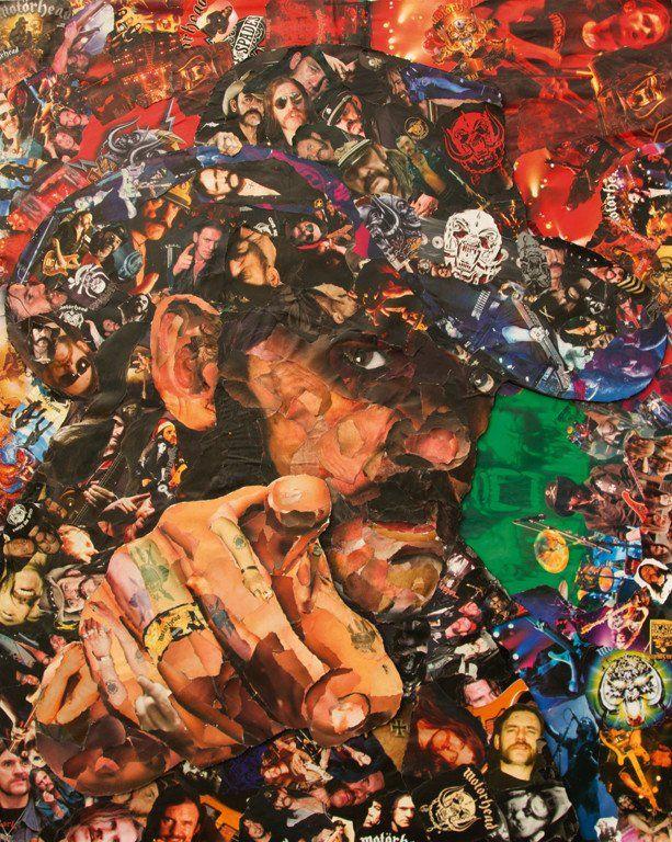 lemmy collage #Lemmy from motorhead Collage Art Giclee Print – multymedia