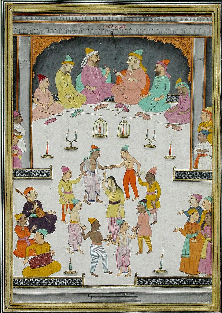 Dervish-Kadiri, Dervishes dancing before a group of Muslim divines, The San Diego Museum of Art