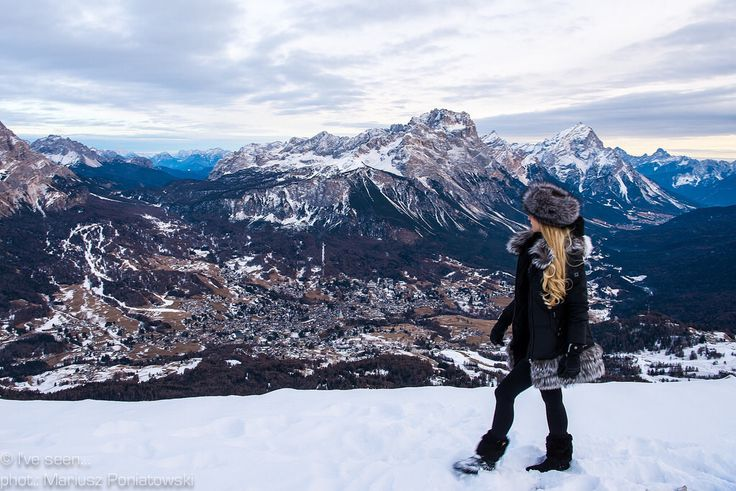 """Cortina d'Ampezzo, Italy Named the """"Queen of the Dolomites"""" with its absolutely unique landscape... Ra Valles 2475 m. Travel to Italy with @iveseen_"""