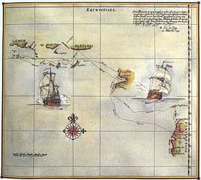 A copy of the Original Duyfklen Voyage Map