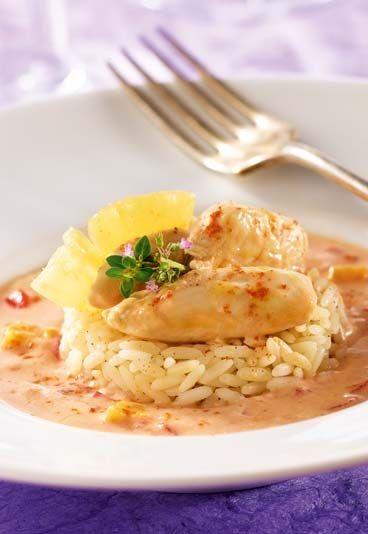 Recette minceur Jenny Craig : Escalope de poulet à l'ananas et lait de coco