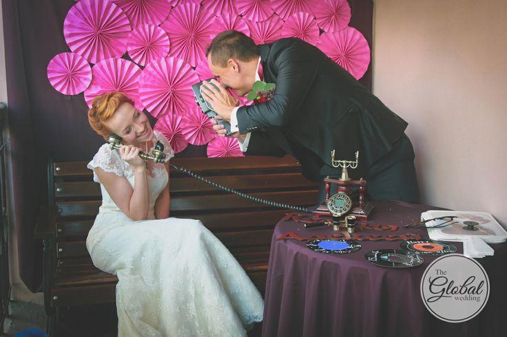 Свадьба в стиле ретро. Фотозона