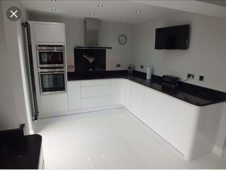 White Kitchen Units Black Worktop 65 best kitchen designs images on pinterest | modern kitchens