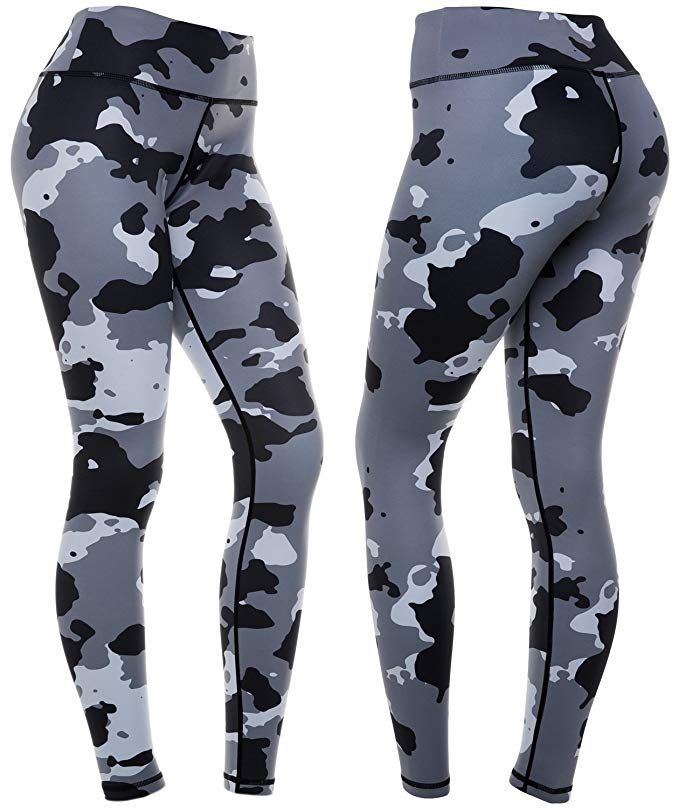 c70f5eb8c94891 CompressionZ Women's Compression Pants (Camo - M) Best Full Leggings Tights  for Running,