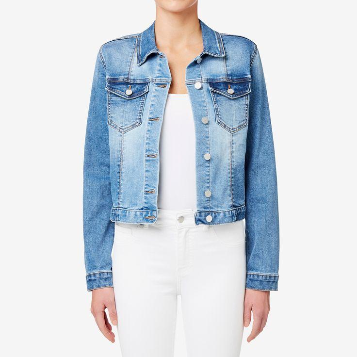 Shop now: Panel Detail Denim Jacket. #seedheritage #seed #woman