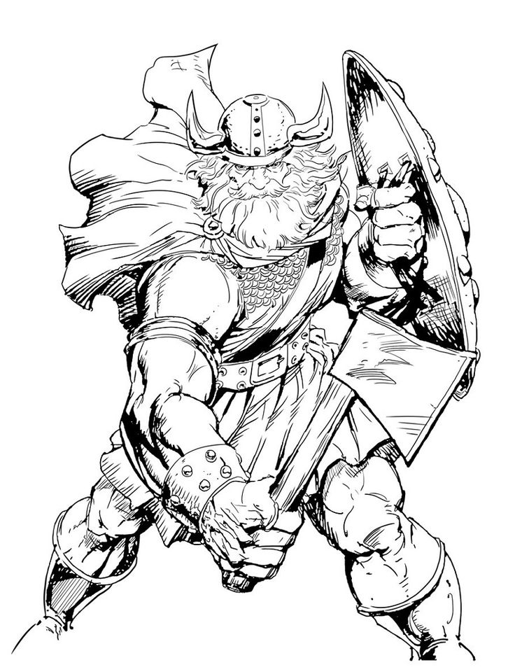 Viking Coloring Pages Dragon coloring page, Warrior