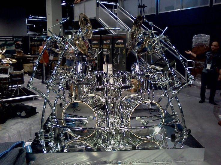 Transparent Gretsch double bass drum kit | Arte Bateria