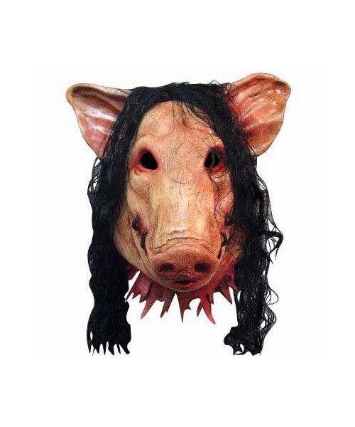 #Saw #Schweinemaske #Horrormaske #CENO   http://www.horrormasken24.de/Halloween-Masken/