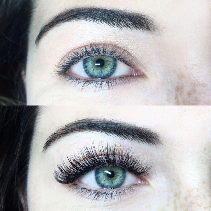 JBrand Beauty before & after Mixed lash extensions #Beautifuleyelashes