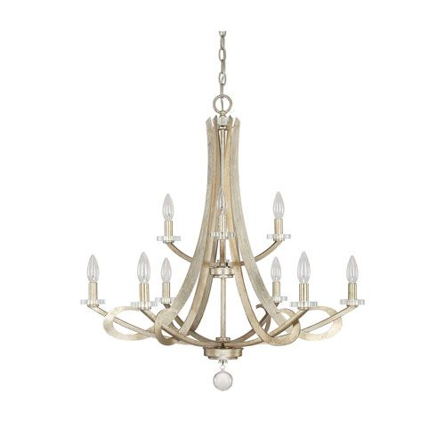 Hutton Winter Gold Nine Light Chandelier Without Shades Lights FantasticDining Room