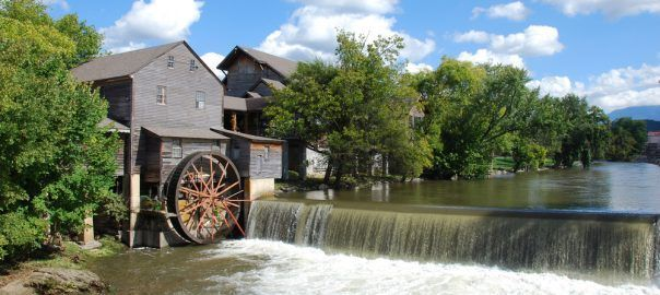 The Old Mill is a historic grist mill that was built in the early 1800s. It's still in operation today and any of the meals and flours used in dishes at The Old Mill and The Old Mill Pottery House Cafe are made right on site at the grist mill