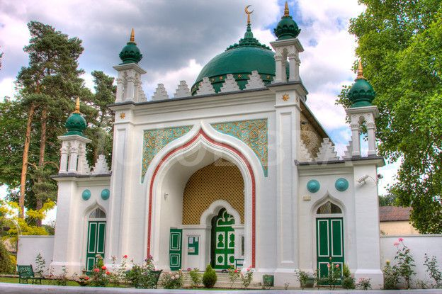 Shah Jahan Mosque, Woking, Surrey. In the same town some of my family lives in just outside of London, this was Britain's first mosque.
