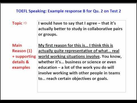 10 best toefl images on pinterest free classes learn english toefl speaking question 2 example answer with script pronofoot35fo Image collections