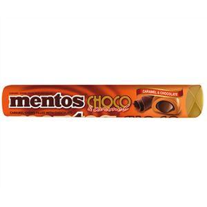 A bulk box of 40 rolls of delicious Mentos Choco Caramel.