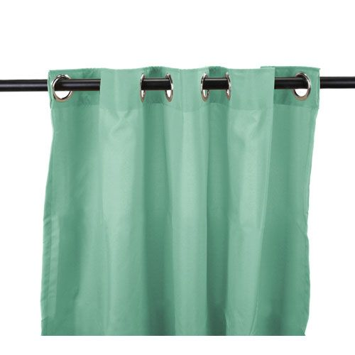 Outdoor Curtains 54-Inch x 96-Inch Spa Solid Polyester Outdoor Curtain