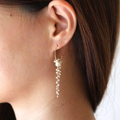 shirotsumekusa long pierce - asumi bijoux