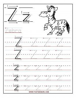 Free Printable letter Z tracing worksheets for preschool.  free connect the dots alphabet writing practice worksheets for 1st graders.free letter Z worksheets for kindergarten: