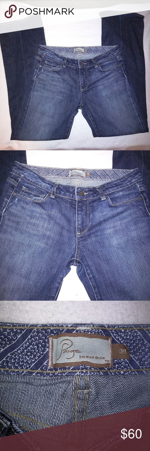 Paige, premium denim laural canyon jeans 30 Excellent condition, gently used, Paige premium denim Laurel Canyon jeans. Size 30, length is 38 inches, inseam is 30 inches. 98% cotton, 2% spandex, made in the USA. Paige Jeans Jeans Boot Cut