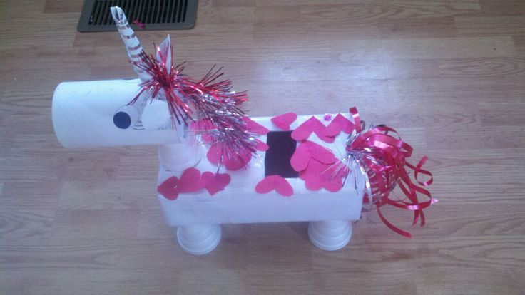 Unicorn Valentine's Day Box daughter & I made