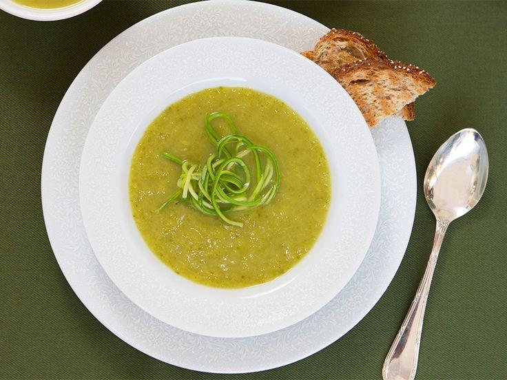 sopa de alho poró e curry