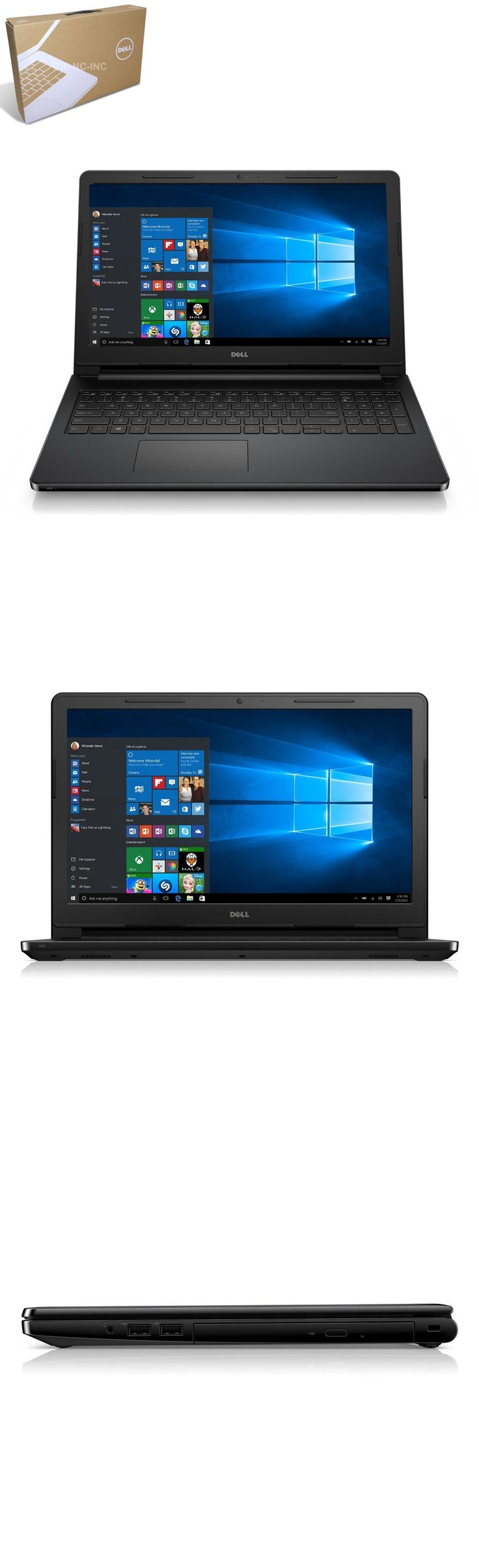 computers: New Dell Inspiron 15 3000 3552 N3060 4Gb 500Gb Wifi Hdmi Dvdrw Windows 10 -> BUY IT NOW ONLY: $289.99 on eBay!