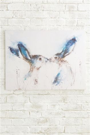Buy Tickly Kisses Hare Canvas from the Next UK online shop