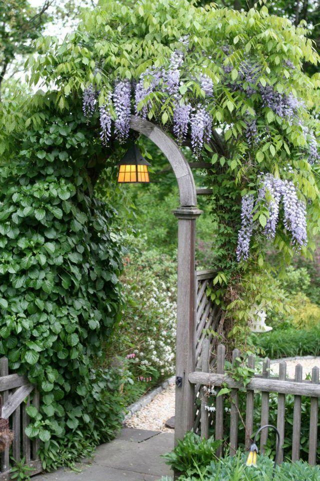 Dering Hall Landscape Garden: Love the trellis and Wisteria!