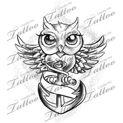 Marketplace Tattoo owl #14080 | CreateMyTattoo.com