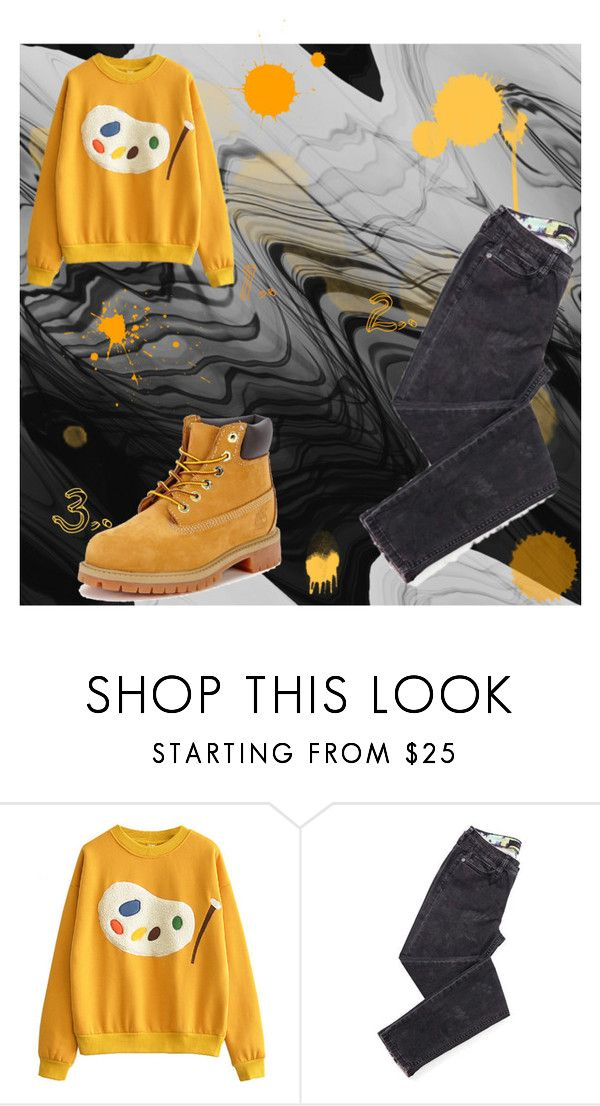 """""""I would like to invite you to join my group: black stars. To join the group, click """"Accept group invitation"""" here: http://www.polyvore.com/cgi/group.show?id=210565."""" by christinaioana ❤ liked on Polyvore featuring Timberland"""