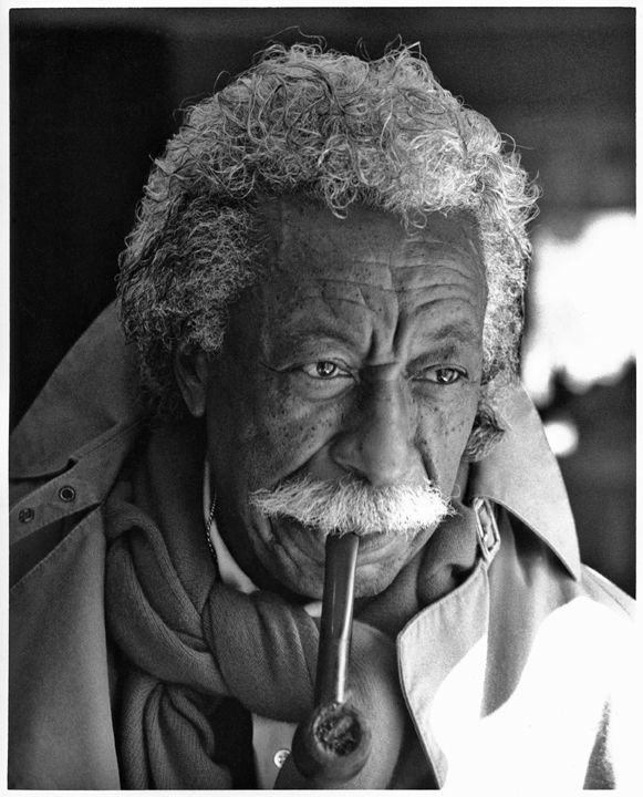Gordon Parks (1912-2006) - American photographer, musician, writer and film director. Photo by David Fahey