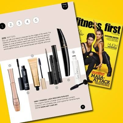 Take the Mascara Masterclass with this month's issue of Fitness First Australia Magazine featuring Vani-T Mineral Lash Mascara!