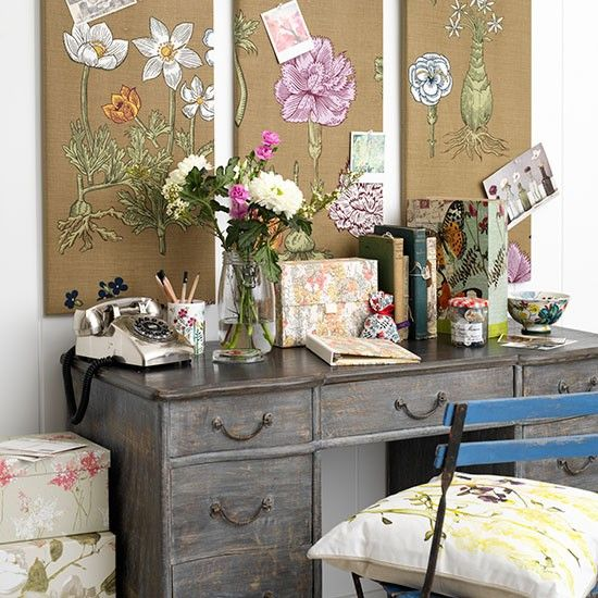 Floral home office. 359 best Home Styling images on Pinterest