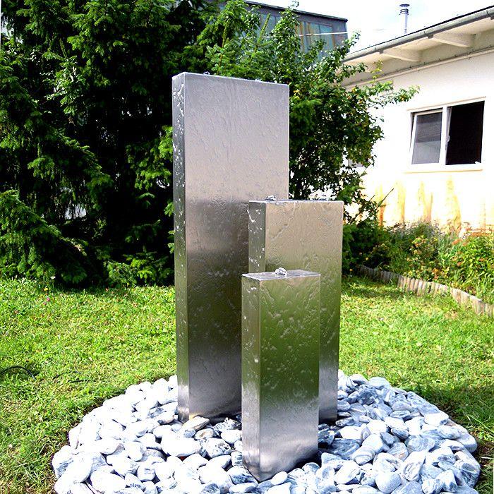 Edelstahlbrunnen Wasserwand Bochum Vario Set 3 120 1 Wasserspiel Garten Wasserwand Garten Wasserbecken Garten