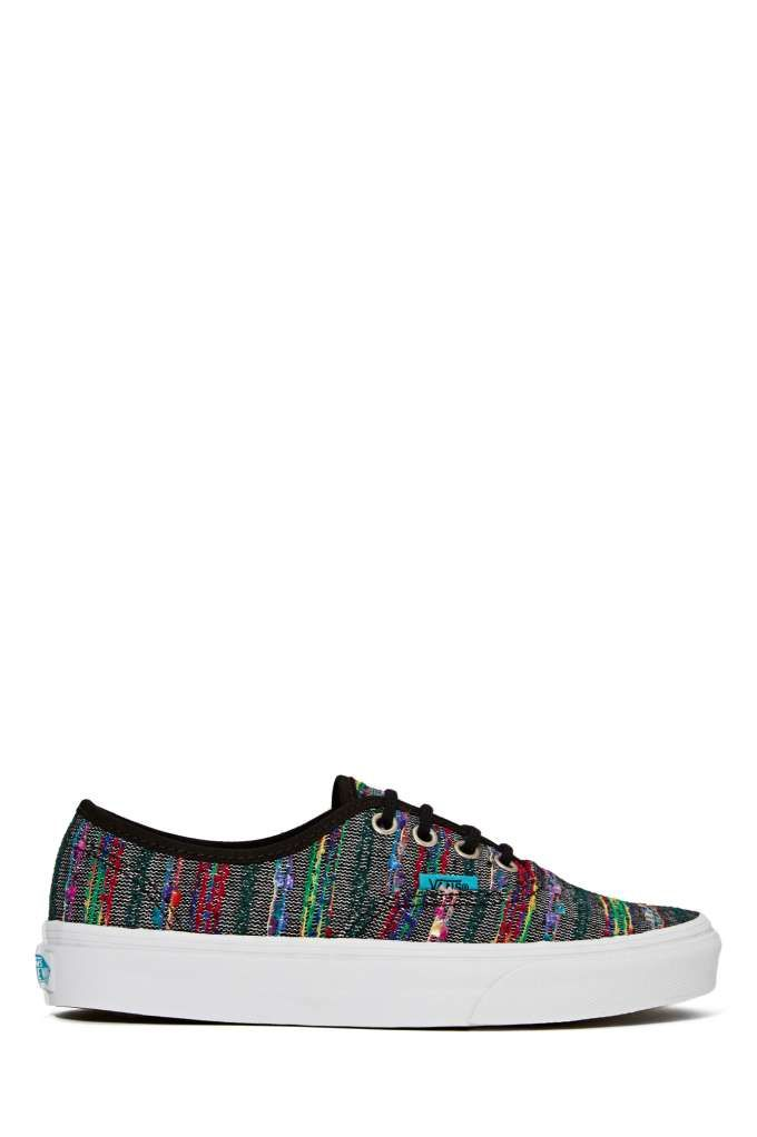 Vans Authentic Sneaker - Black Multi Weave